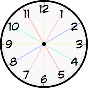 Clocks clipart colored. Clock devider clip art