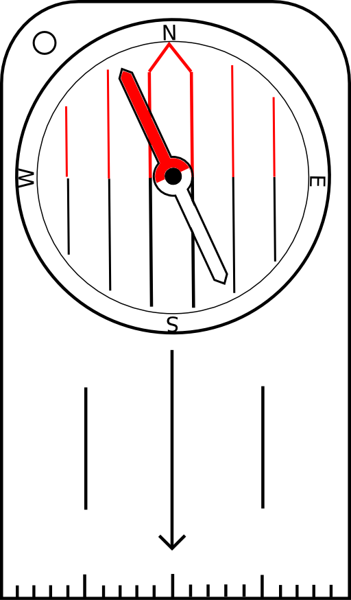 Clock clipart compass. Orienteering with rotatable housing