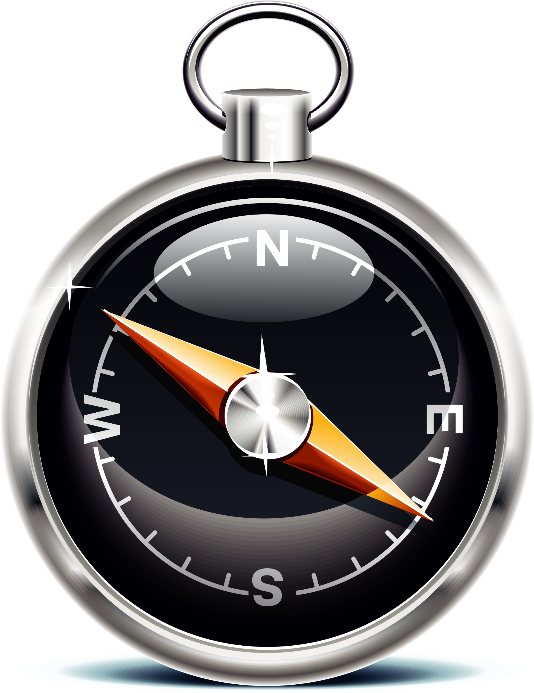 Icons big image png. Clock clipart compass