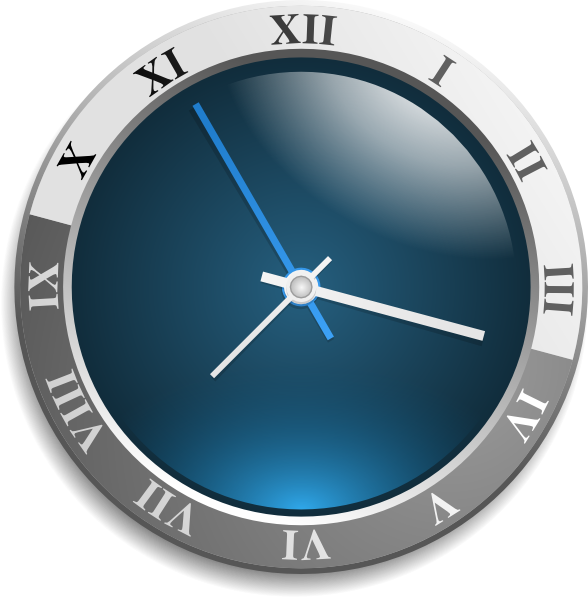 Free animated clock download. See clipart blue watch
