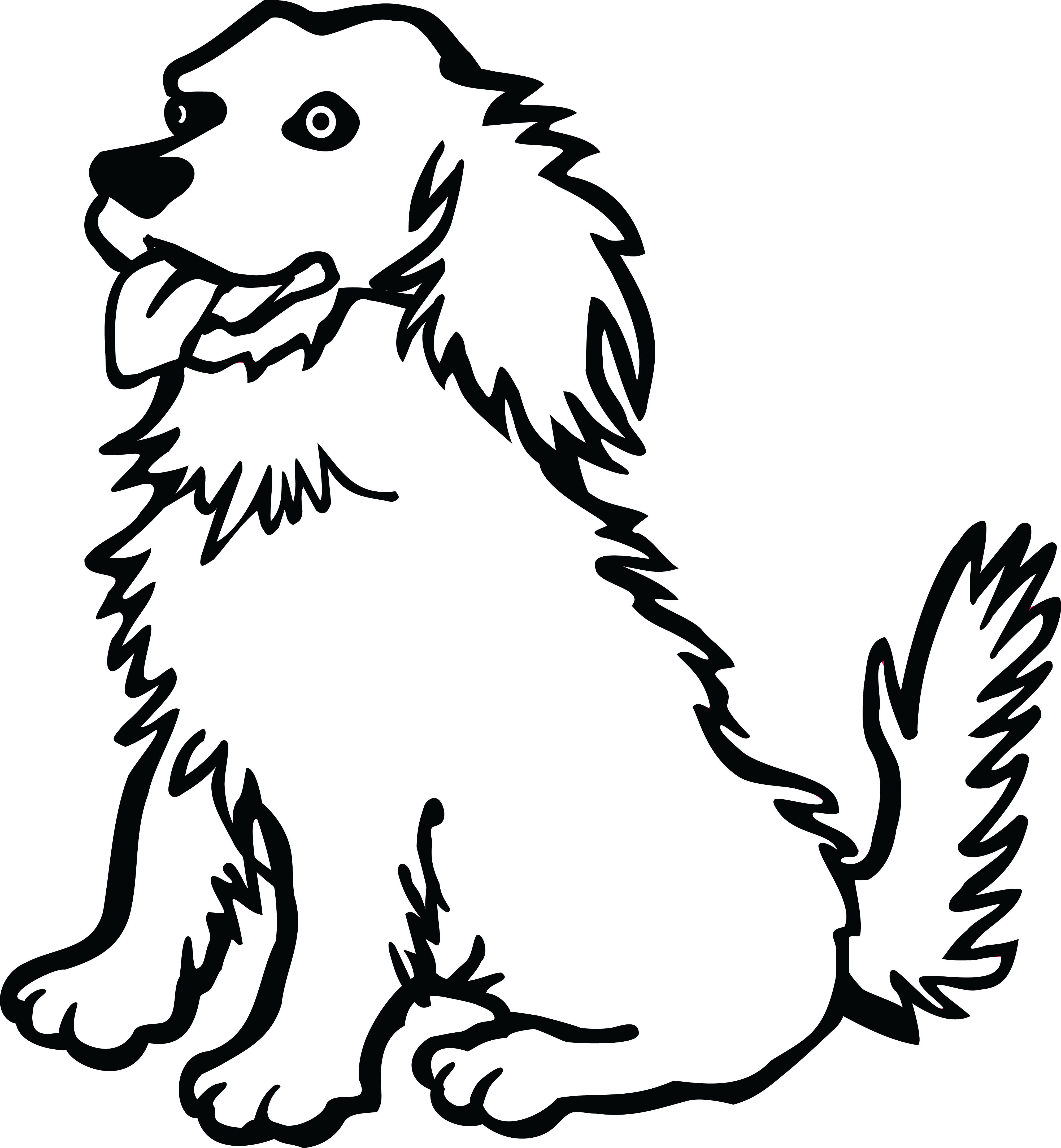 Free png of dogs. Pet clipart black and white