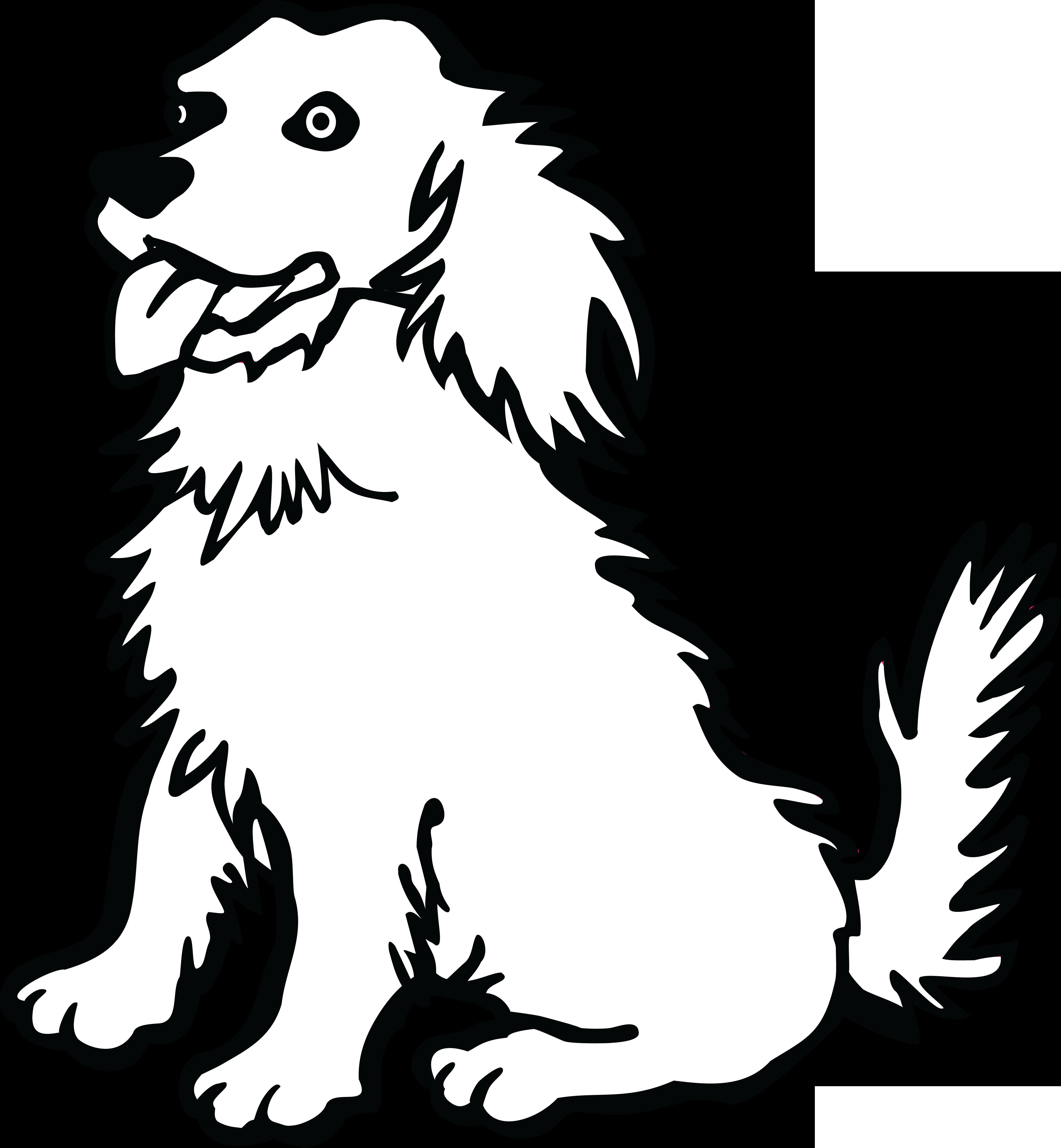 Clocks clipart dog. Free black and white