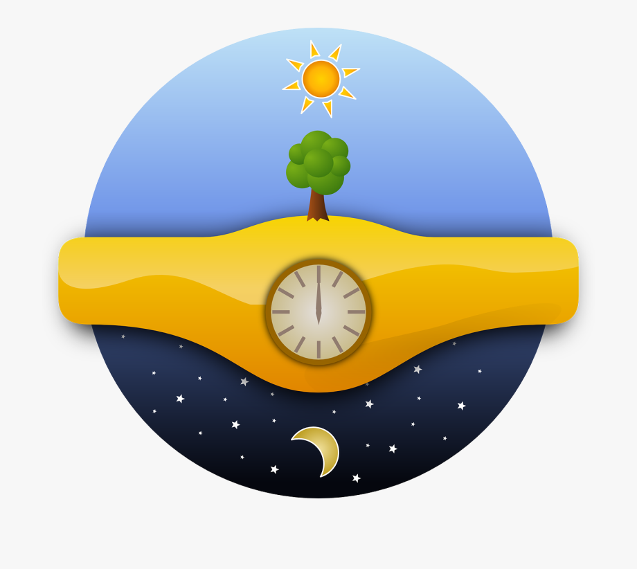 Day and night png. Clock clipart evening