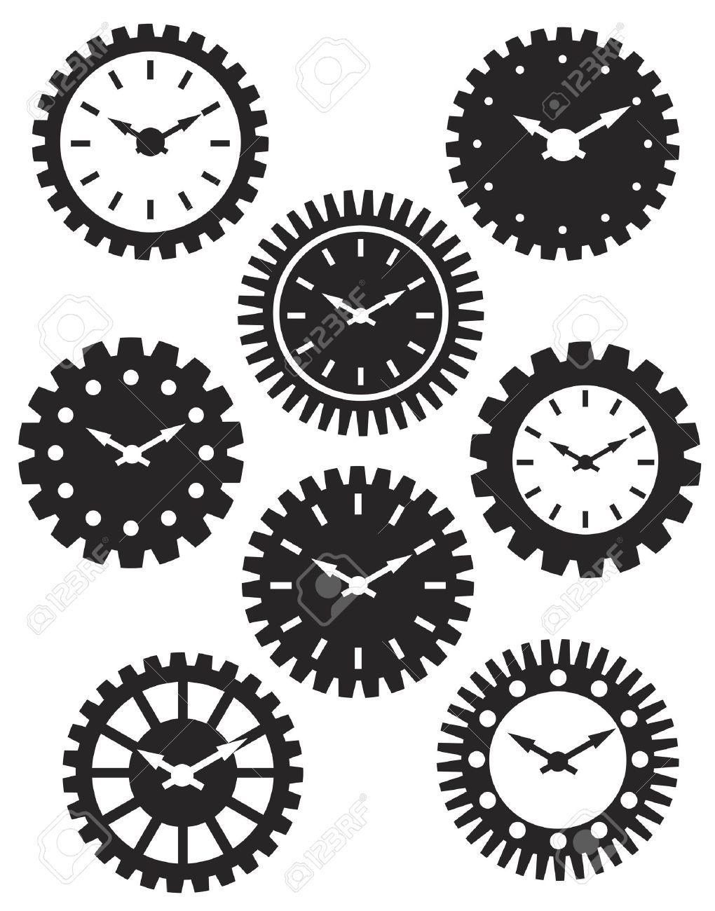 Gears clipart clock. Pin on clocks keys