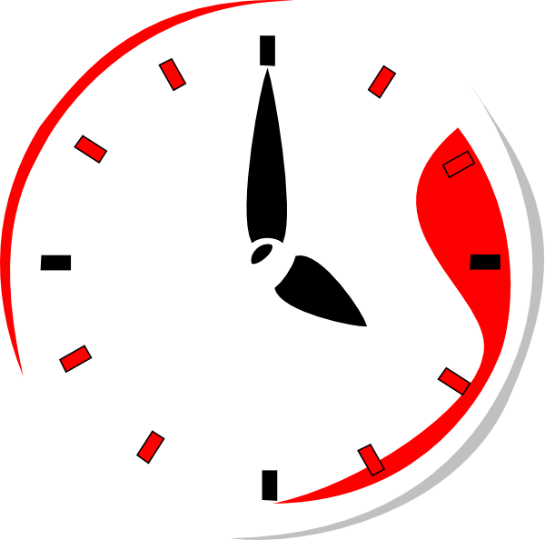 Clocks clipart half past. Red clock hi