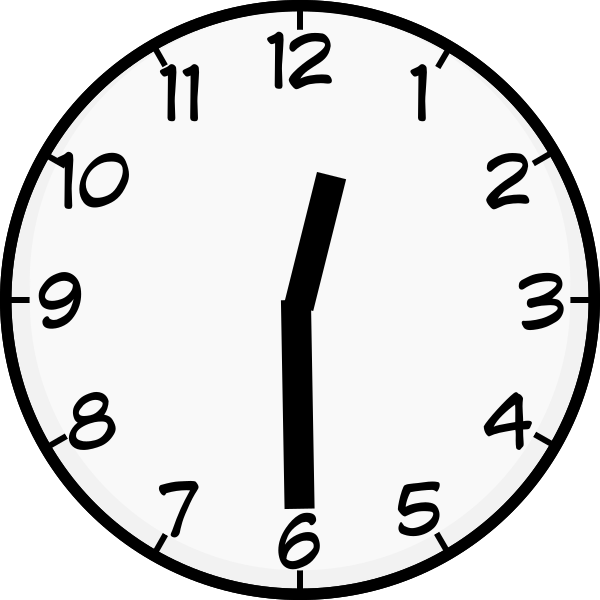 Clock clipart half past. Twelve clip art at