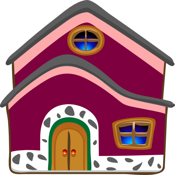 Grandmas cottage clip art. Clock clipart house