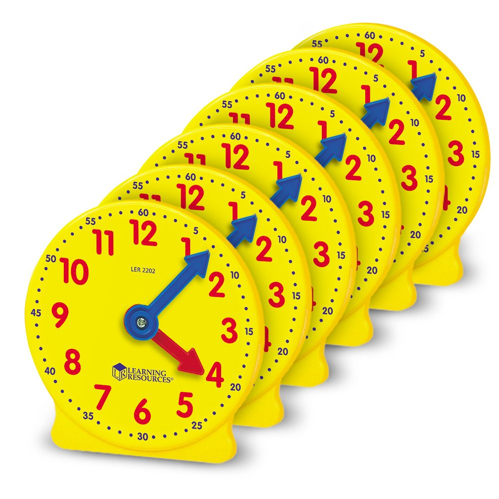 Clock clipart judy. Learning resources gear inch