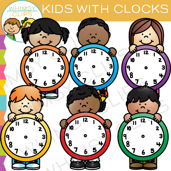 Clocks clipart kid png. Clock for kids station