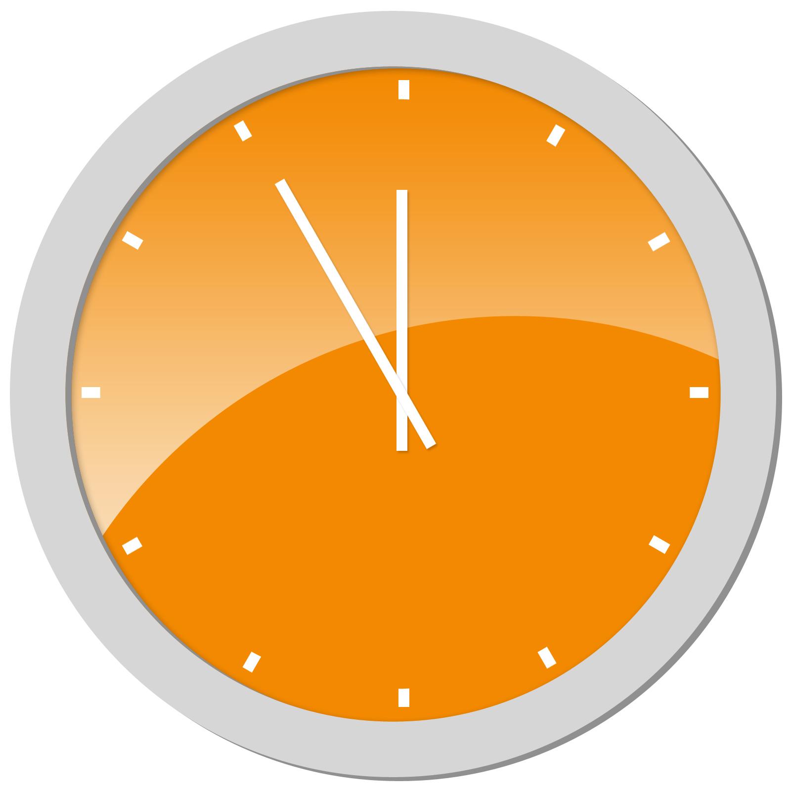 Clocks clipart orange. Free clock cliparts download