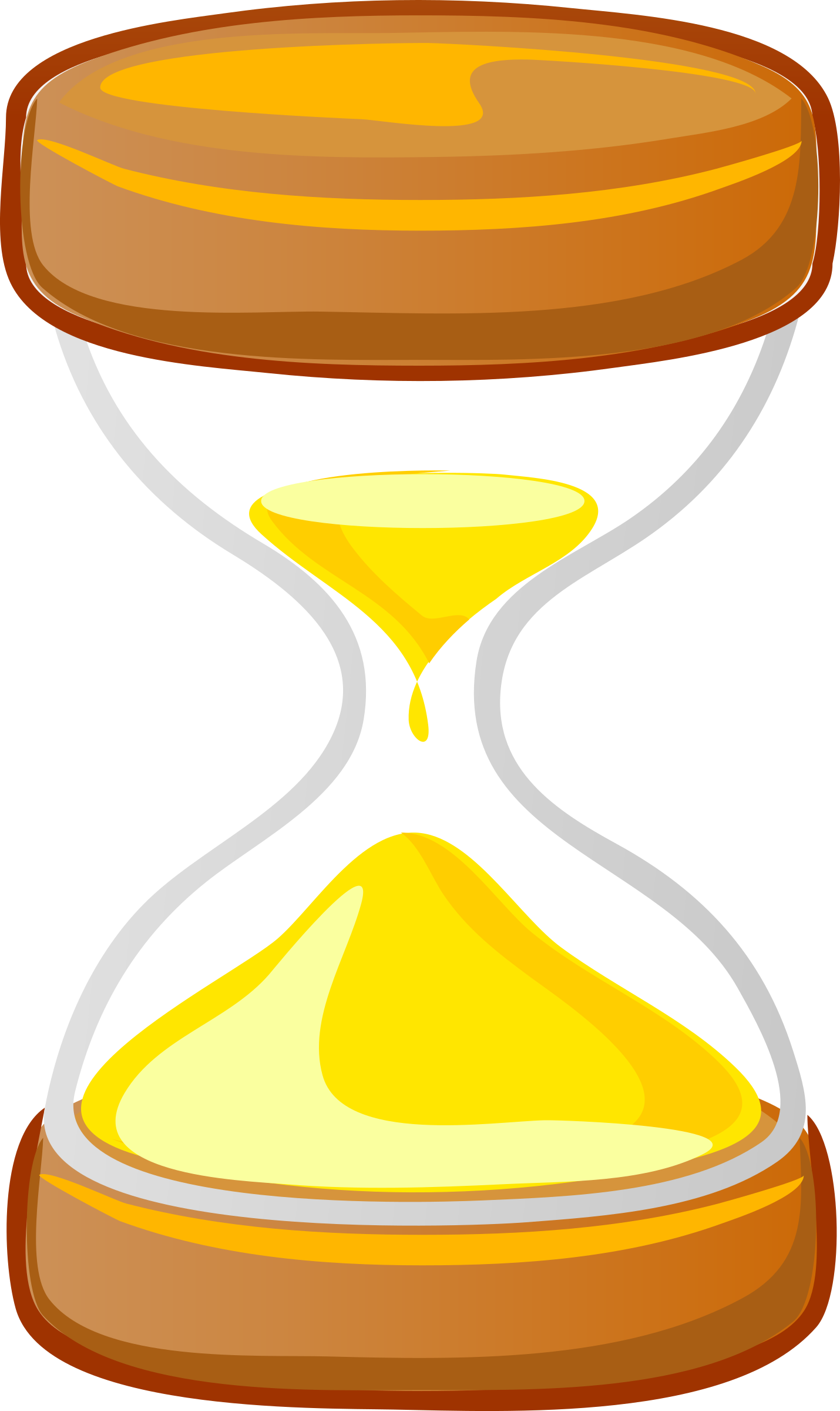 Clocks clipart yellow. Architetto clessidra big image