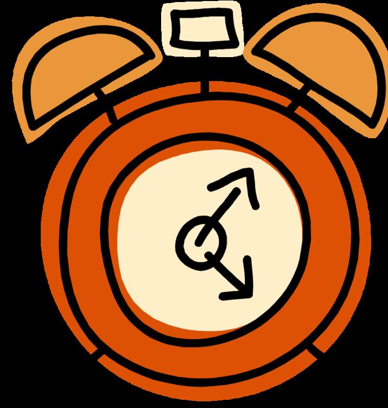Free black and white. Clock clipart orange
