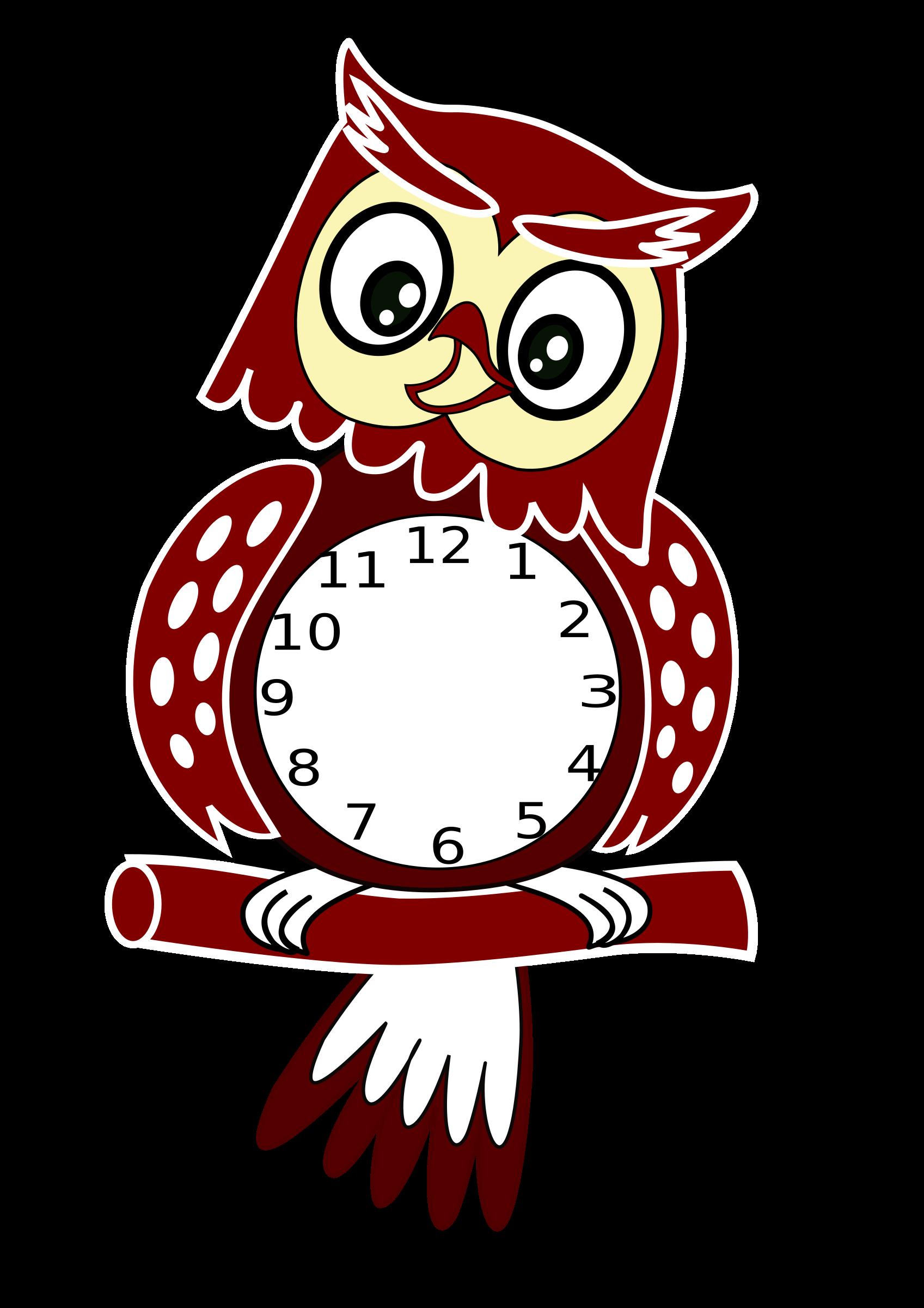 Clock clipart puppet. Owl by estea goma