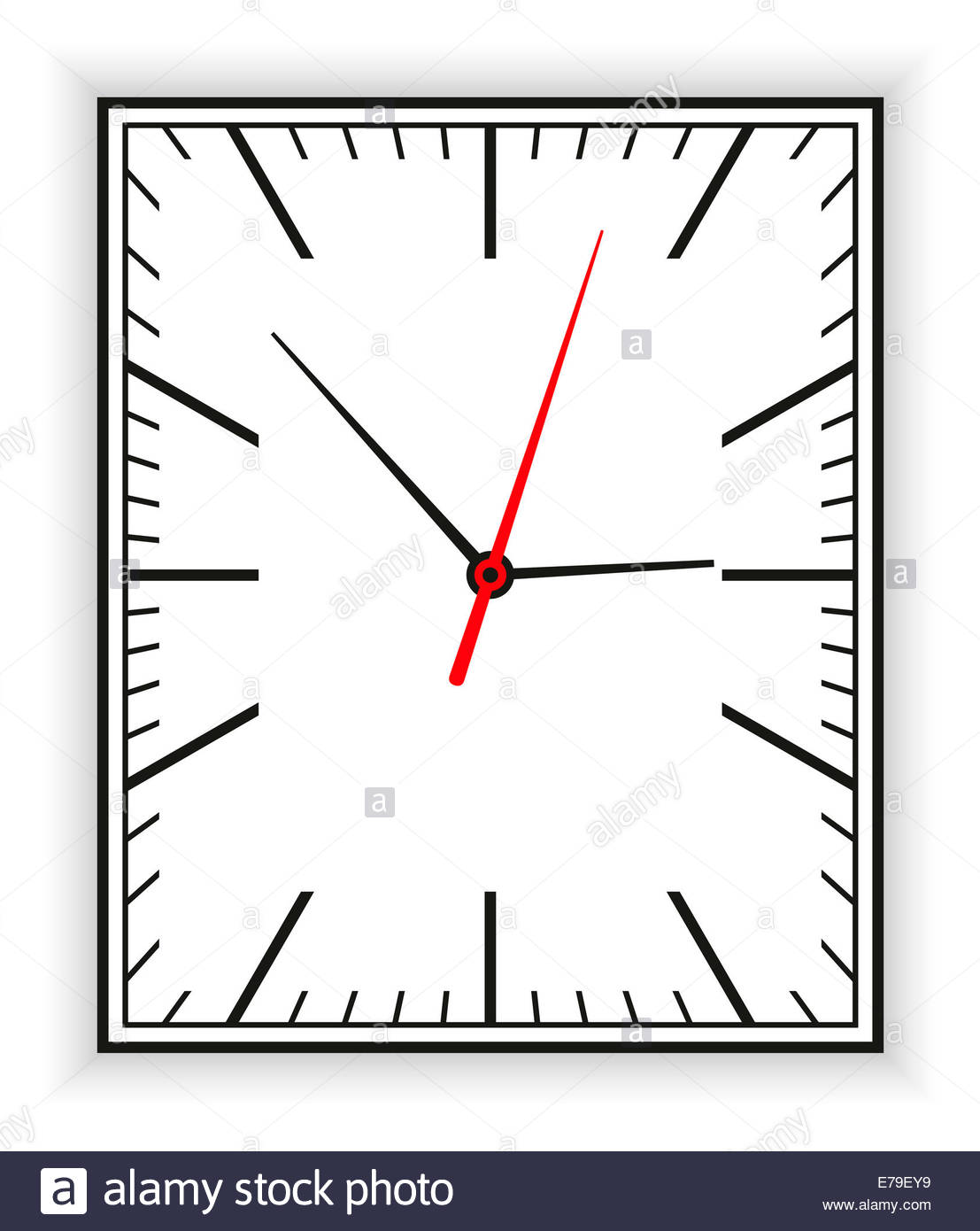 clock clipart rectangle