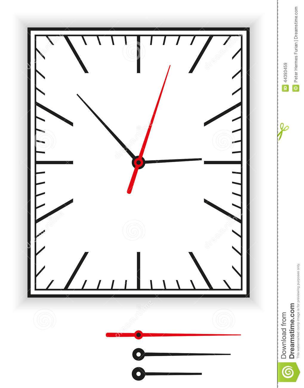 Clock clipart rectangle.