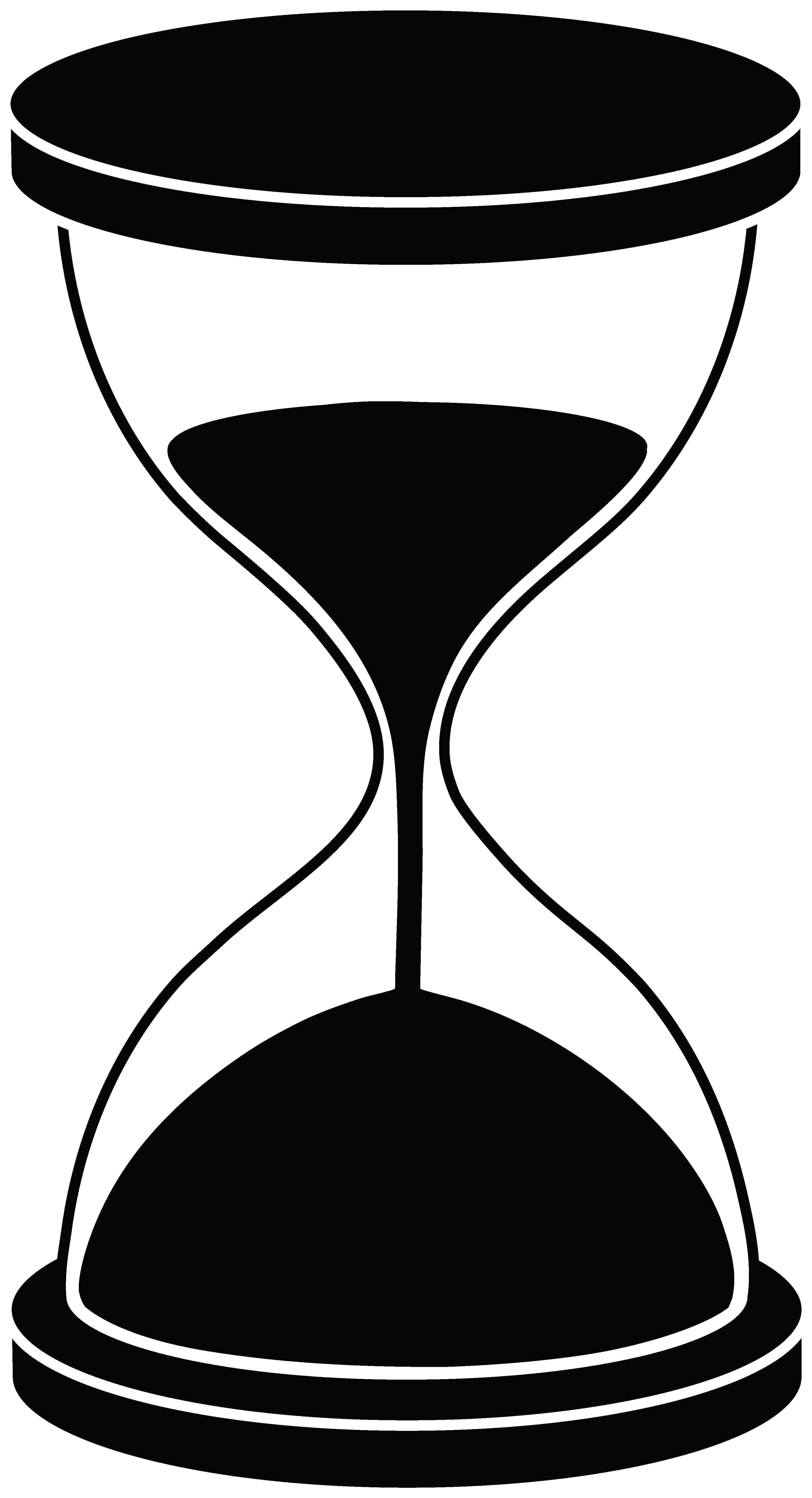Glass clipart file. Hourglass silhouette free clip