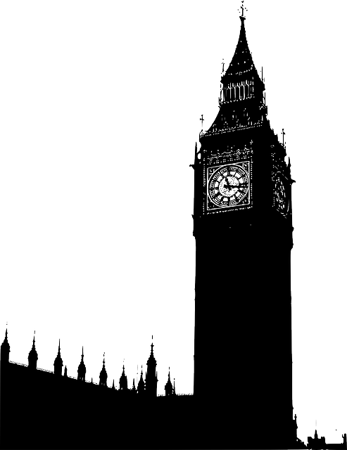 Building tower black outline. Palace clipart silhouette