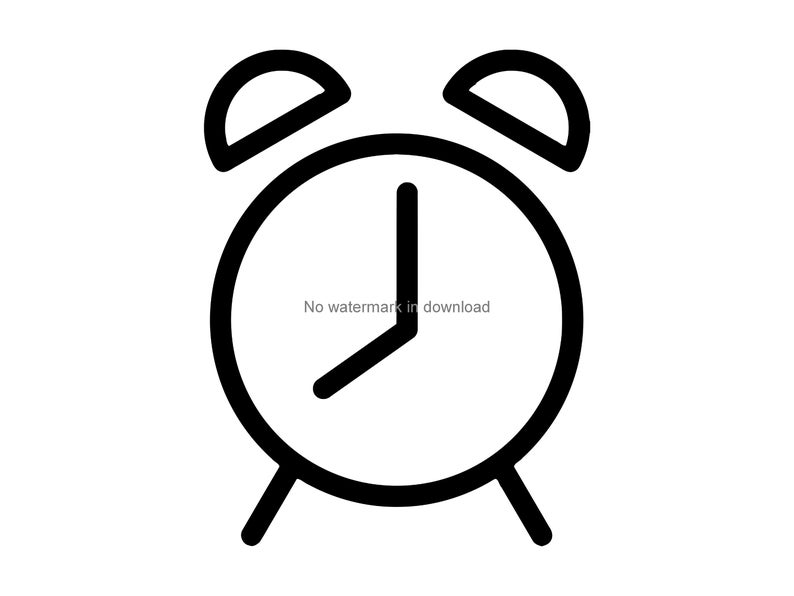 Clock svg cutting image. Clocks clipart silhouette