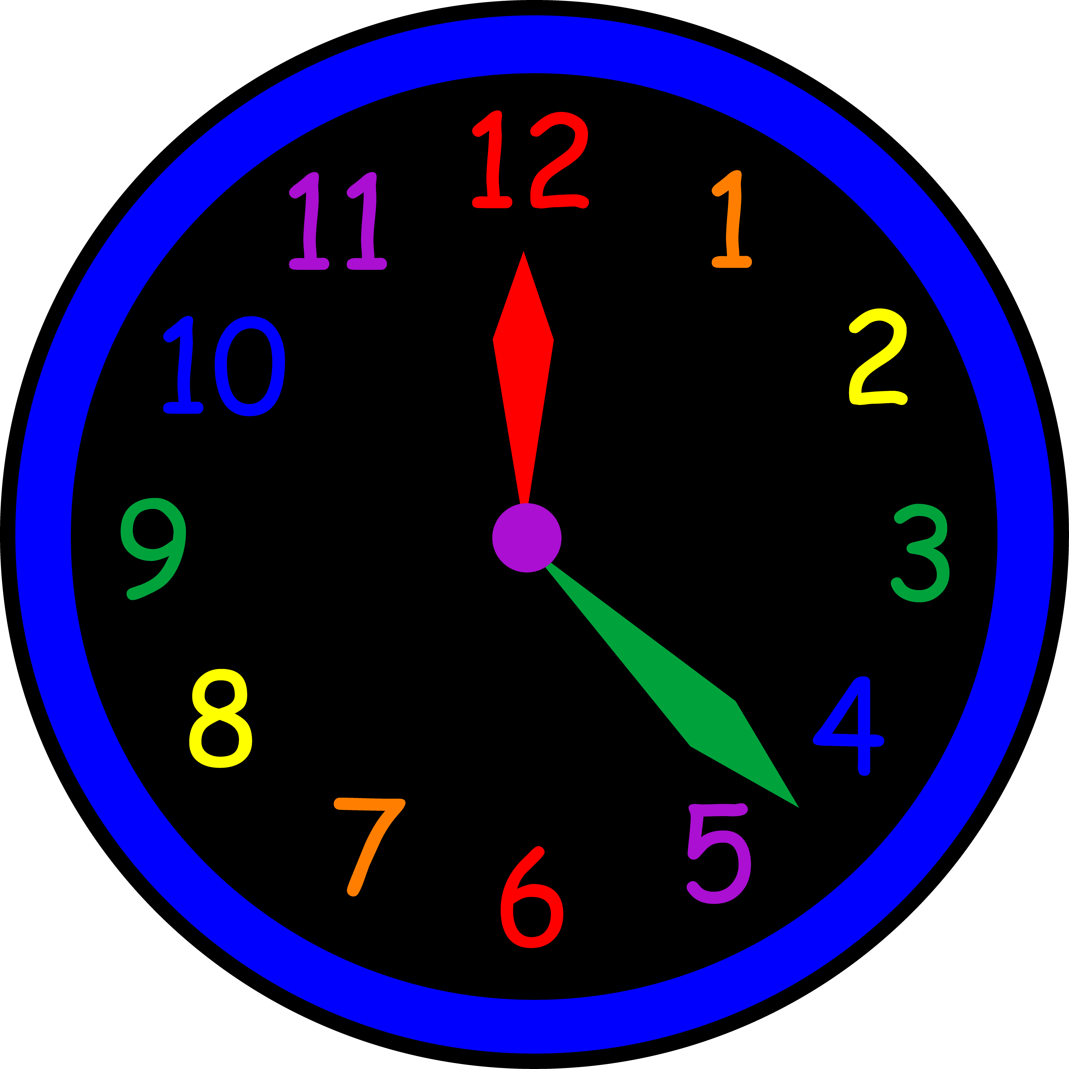 Tell the time. Clock clipart square