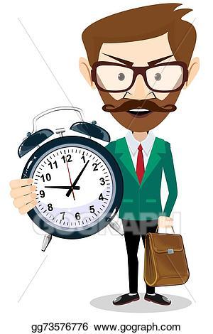 Vector stock adult with. Clock clipart teacher