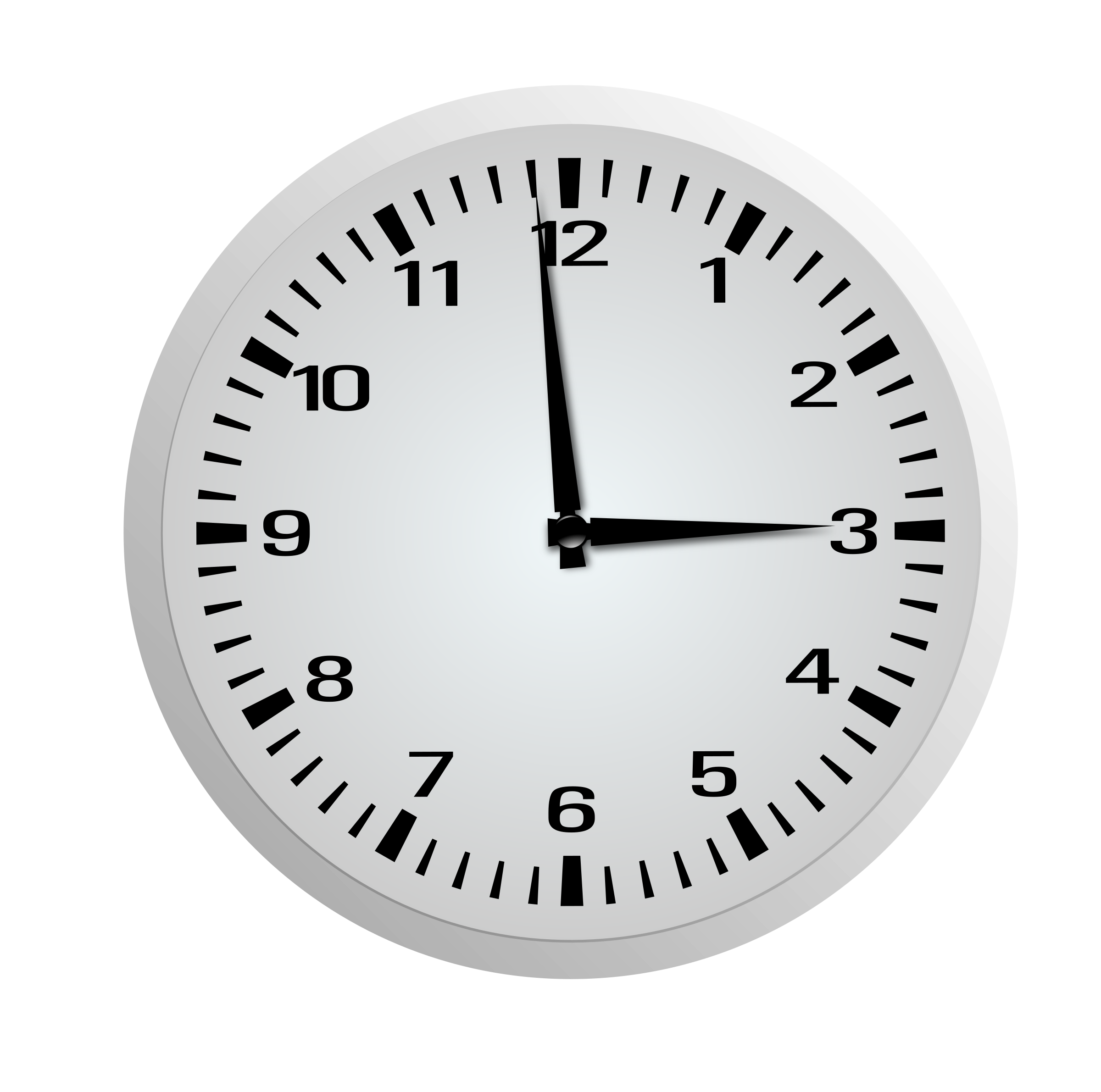 One minute before three. Clock clipart tick tock