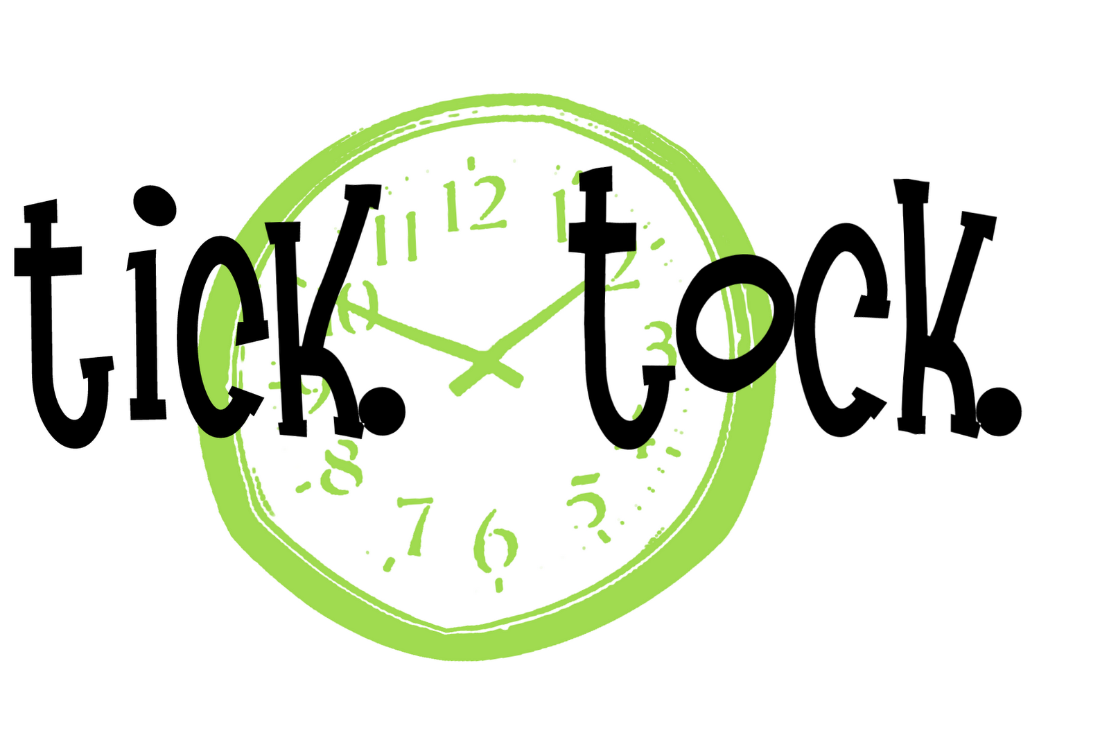 Green clock clipartfest clipartbarn. Clocks clipart tick tock