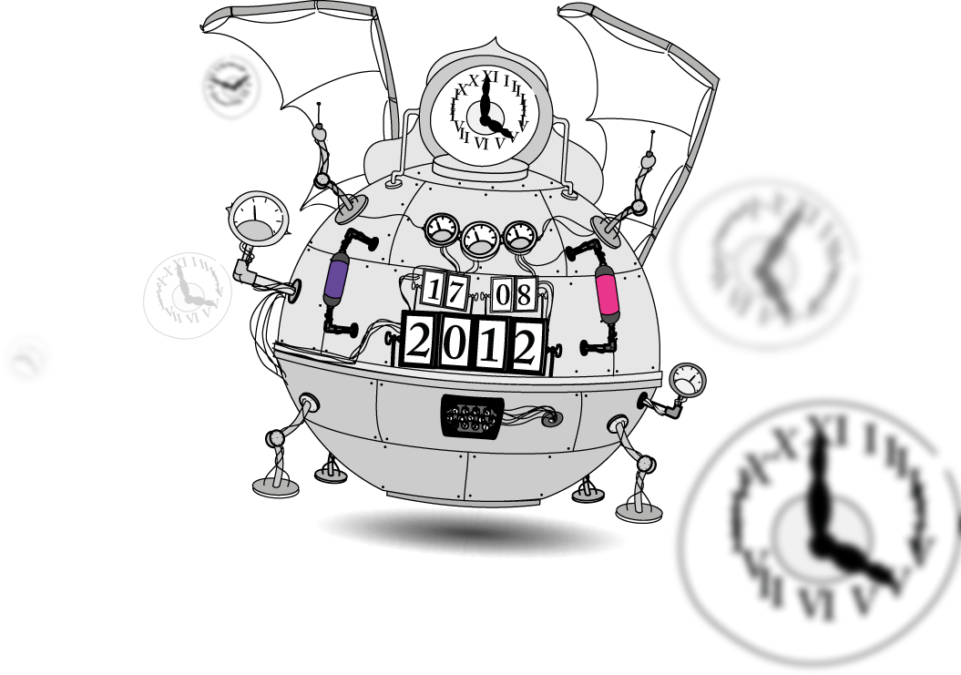 collection of black. Future clipart time machine