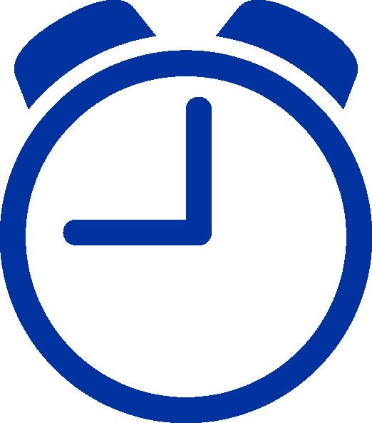 Blue clip art at. Clock clipart vector
