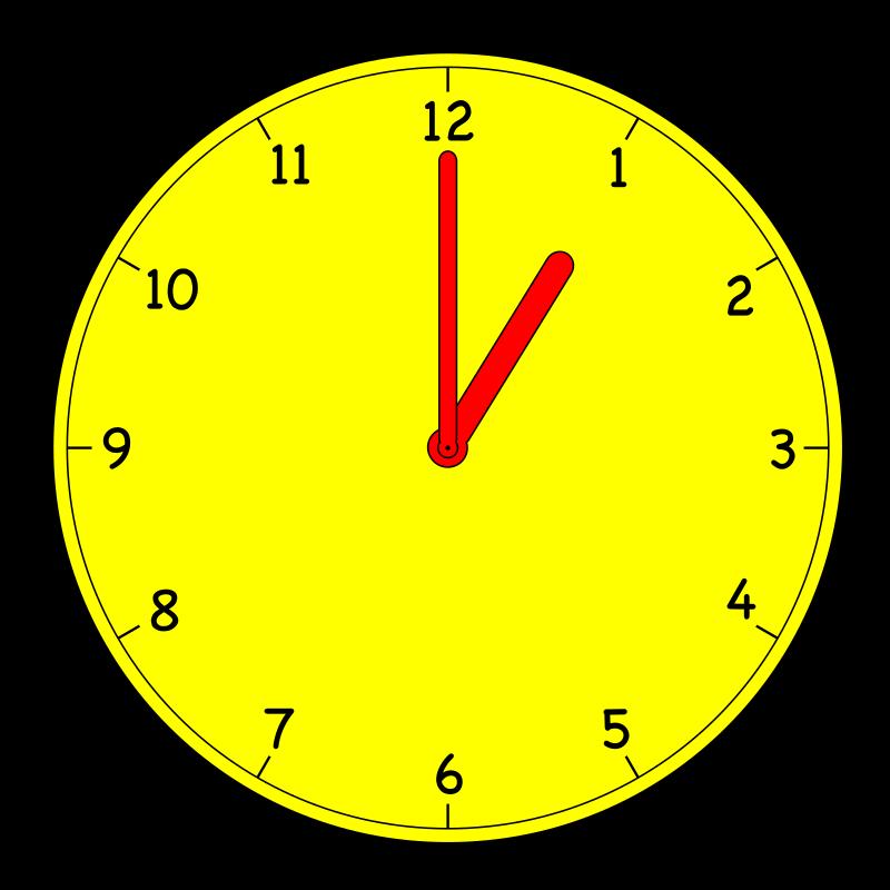Analog clock bclipart tools. Clocks clipart yellow