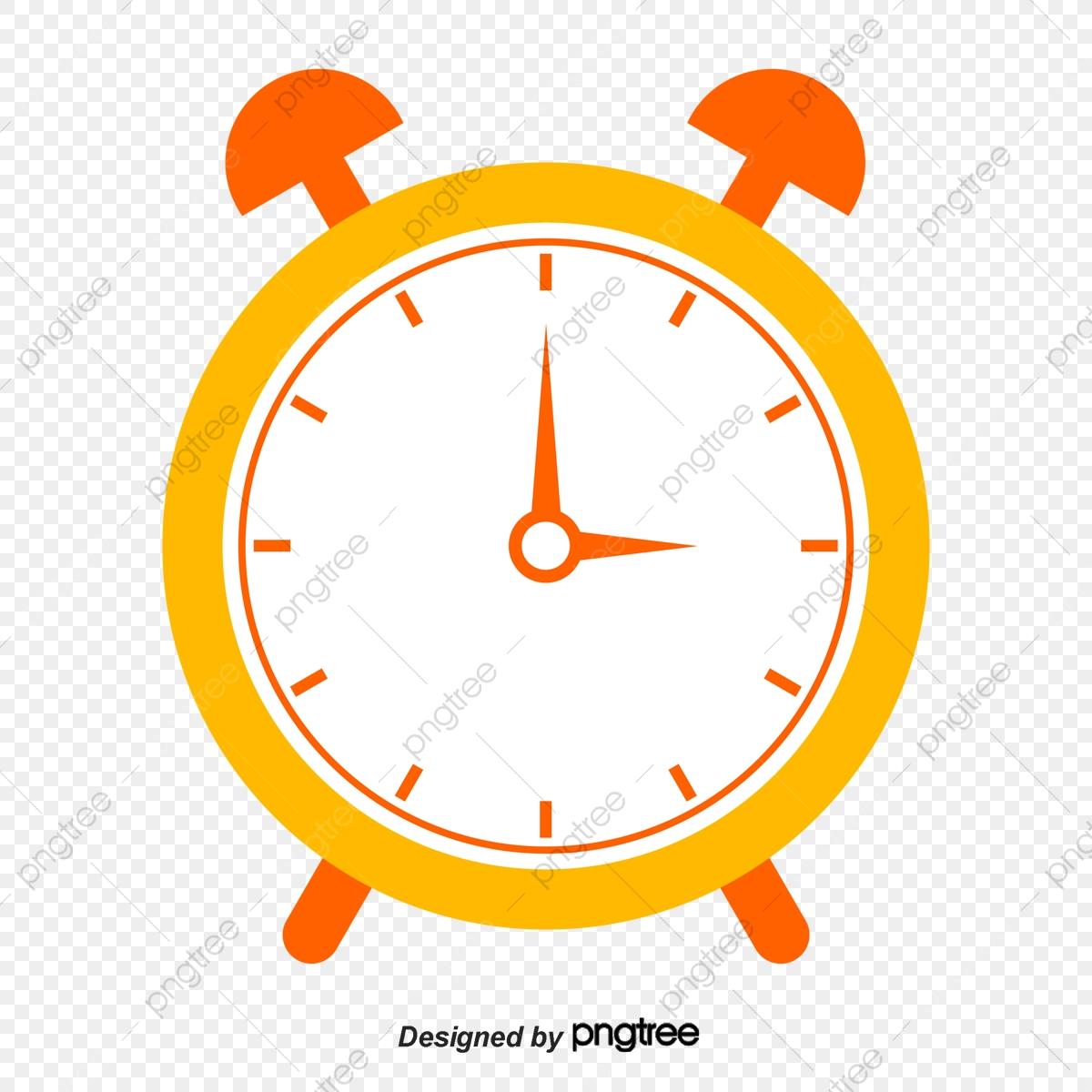 Cartoon alarm clock png. Clocks clipart yellow