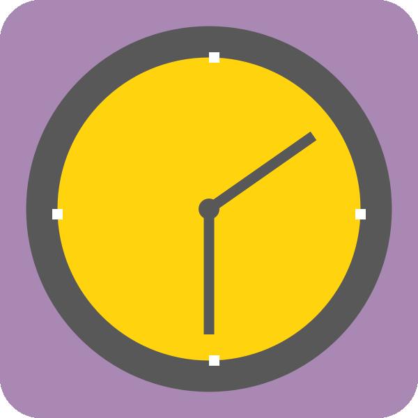 Clocks clipart yellow. Clock clip art at