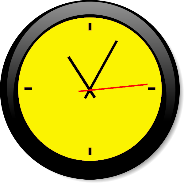 Clocks clipart yellow. Clock a free images