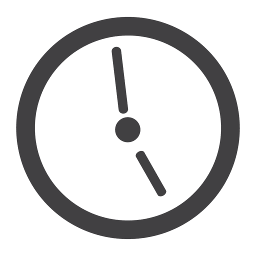 Clock icon png. Flat transparent svg vector