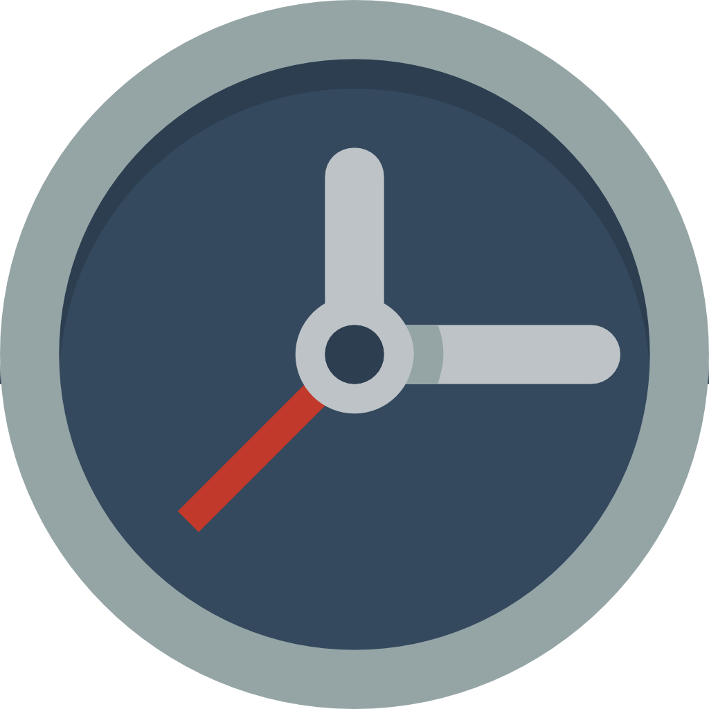 Clock icon png. Small flat iconset paomedia