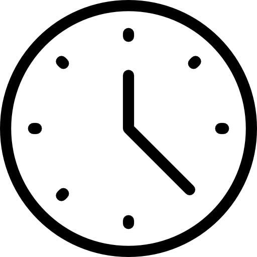 Free time and date. Clock icon png