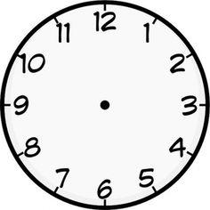 Clock template printable purzen. Clocks clipart