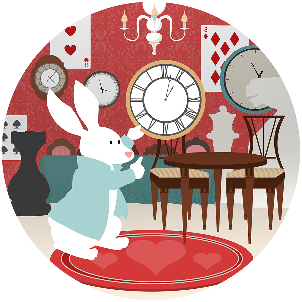 Clocks clipart alice in wonderland rabbit. Experience fun exciting and