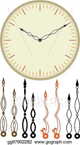 Eps illustration clock dial. Clocks clipart arm