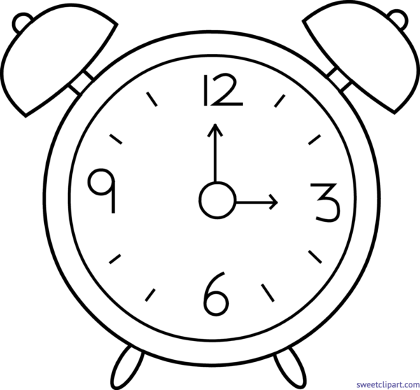 All clip art archives. Clocks clipart black and white