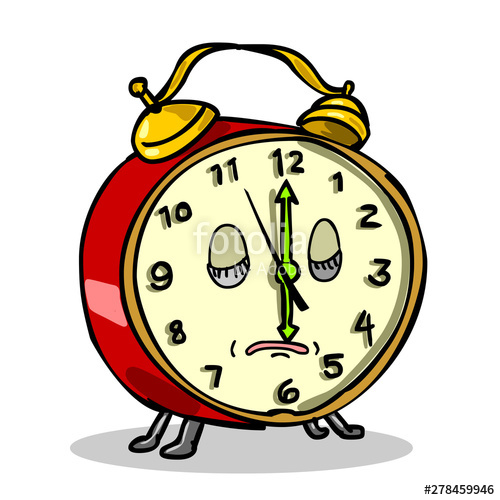 Cartoon style illustration of. Clocks clipart character