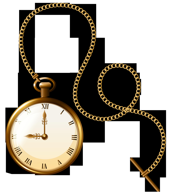 Gold pocket watch clock. Clocks clipart dog