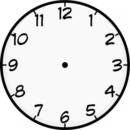 Free clock and vector. Clocks clipart face