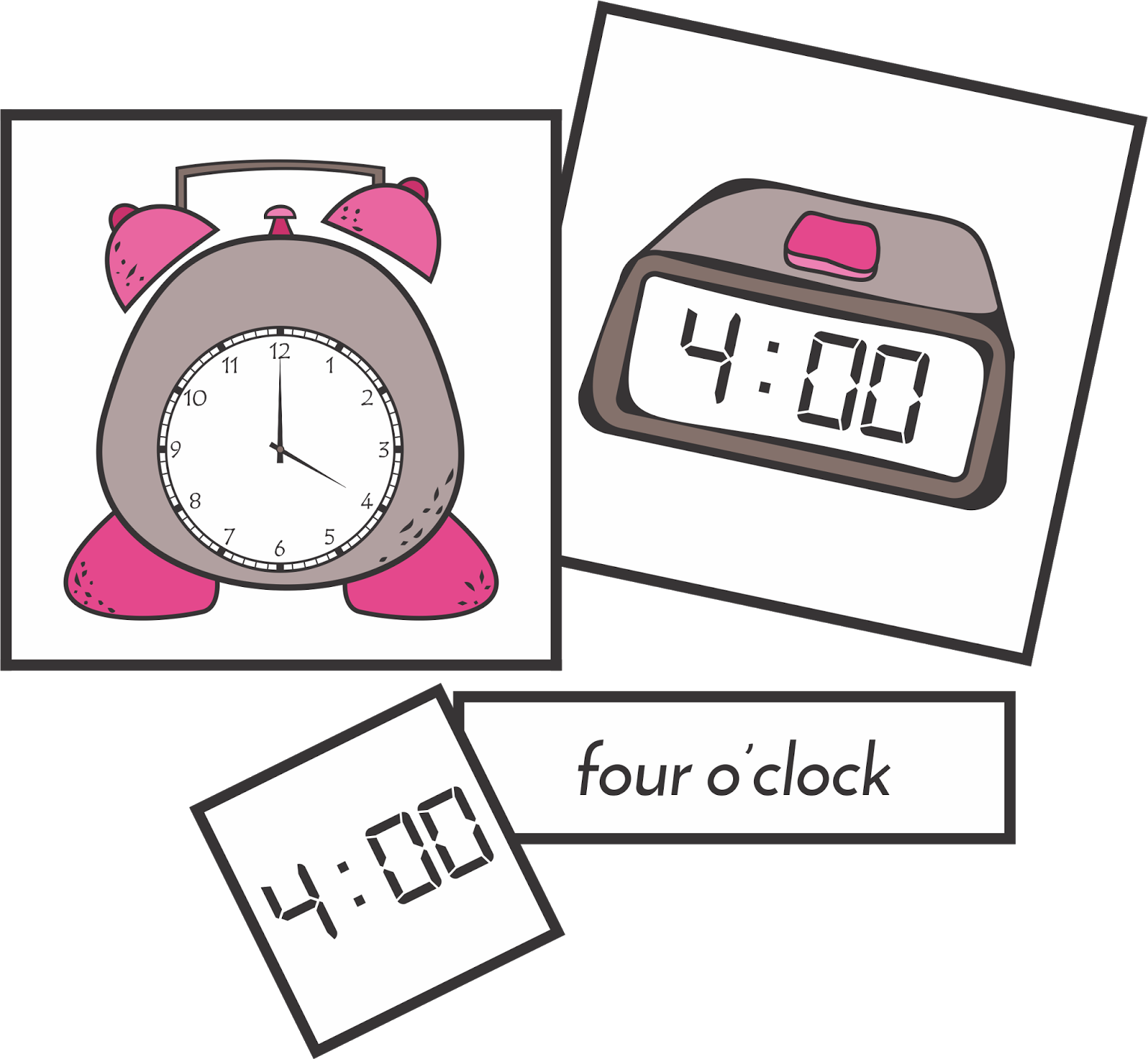 Telling by the hour. Playdough clipart free play time