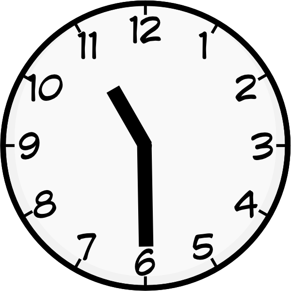 Clocks clipart half past. Clip art at clker