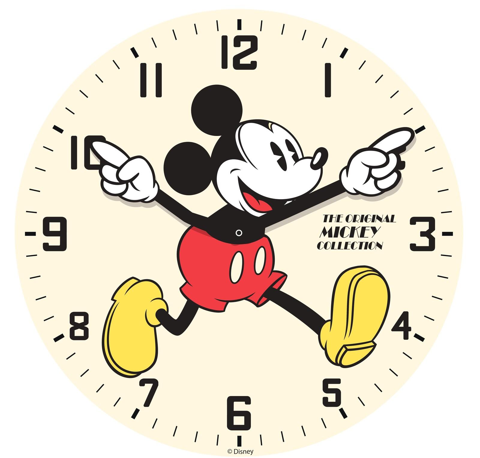 Modern clock glass wall. Clocks clipart mickey