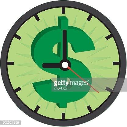 Time is clock premium. Clocks clipart money