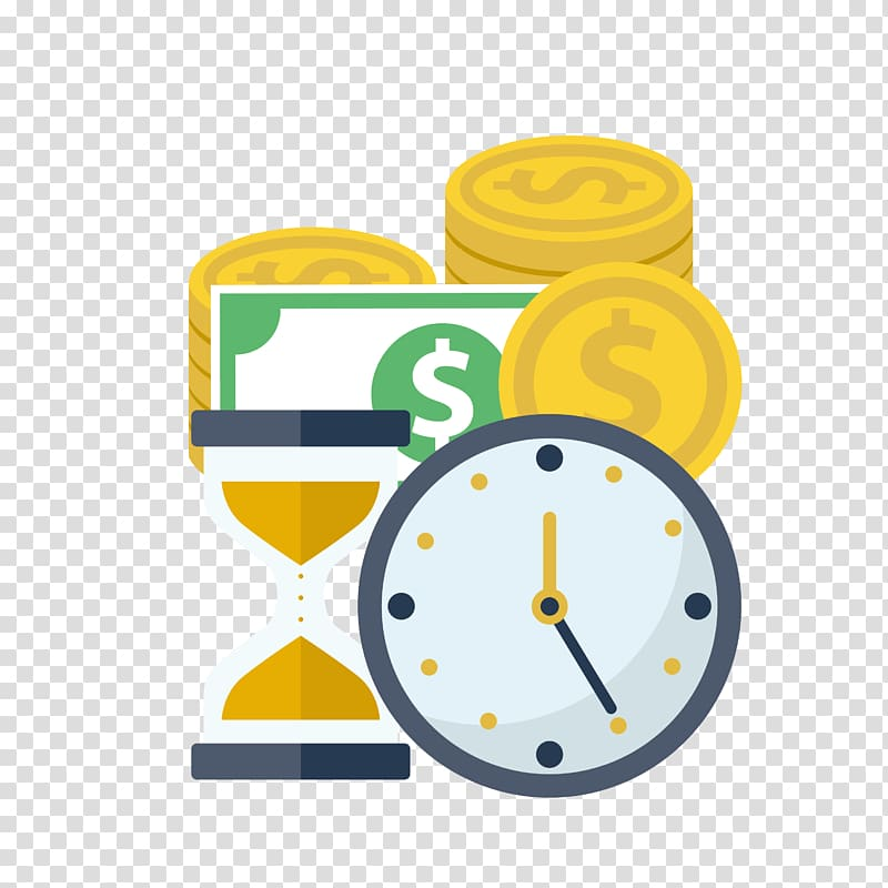 Clocks clipart money. Analog clock and coins