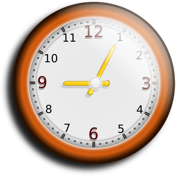 Clocks clipart orange. Clock clip art at