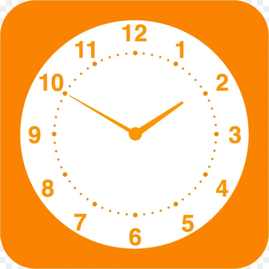 Clock cartoon yellow transparent. Clocks clipart orange