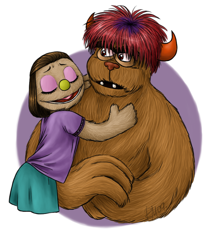Monster pride by muffinpoodle. Clocks clipart puppet